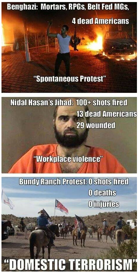 How-liberals-view-Benghazi-vs_-Fort-Hood-vs_-Bundy-Ranch